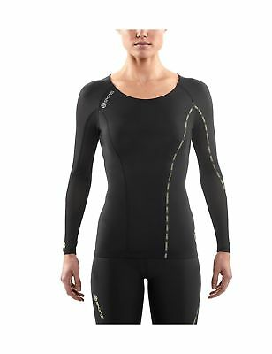 SKINS Womens DNAmic Women's Compression Long sleeve Top black X-Small