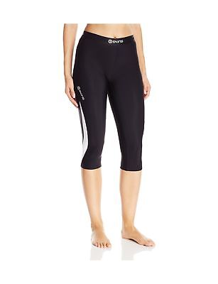 SKINS Women's Dnamic Thermal 3/4 Capri Compression Tights Black/Cloud Large