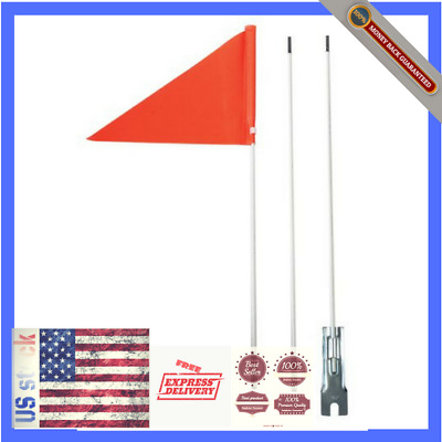 Rainbow Bicycle Safety Flag with Axle Mounting Bracket NEW 5 ft