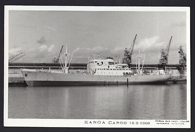 Blank Plain Back Postcard Sized Photo Card Kanga Cargo 1968 Ship Boat