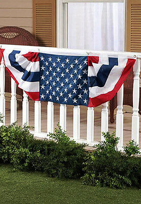 5eb11148b4bf Like us on Facebook · Memorial Day Patriotic Flag Bunting Banner Embroider  Stars July 4 Bunting 60