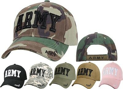 ARMY Tactical Cap Deluxe Embroidered Adjustable US Military Camo Ball Hat