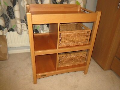 Mamas and Papas Oak Baby Changing Table / Station - Good condition