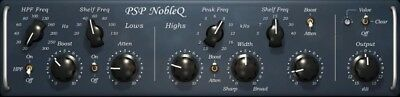 New PSP Audioware NobleQ Noble Q Classic EQ Plugin Virtual Mac PC AAX VST AU