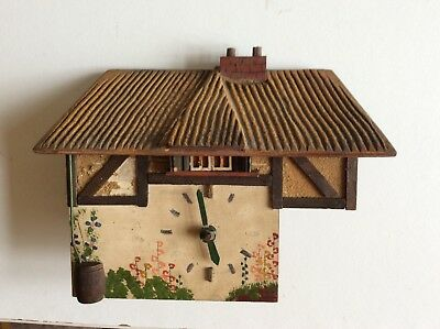 UNUSUAL MID 20th CENTURY COTTAGE CLOCK WITH PENDULUM - RESTORATION PROJECT