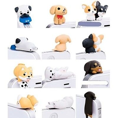 Little Puppy Dust Plug 3.5MM Jack Earphone Cap Protect Handset 6 Pieces Kind Dog