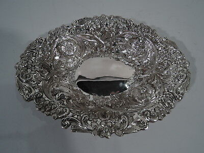 Victorian Bowl - Antique Aesthetic Movement - English Sterling Silver - 1888