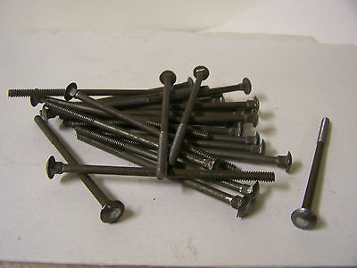 """3/16-24 X 4"""" Carriage Bolts Plain Steel with Square Nuts Made in USA Qty. 25"""