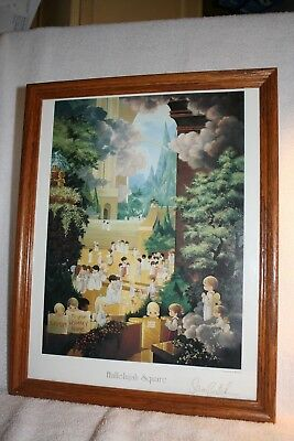 Precious Moments Signed Lithograph ~ Hallelujah Square ~Framed Print