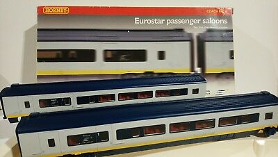 Unused Old Stock. L7919 Eurostar 1st Class Coach Interiors Hornby Red x 2