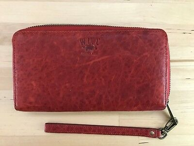 Women's Red Leather Wallet, Will Leather Goods