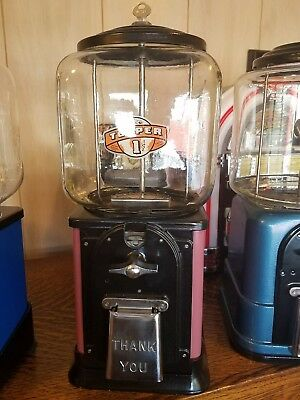 Vintage Victor Topper glass gumball machine pink restored original