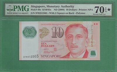 ***Highest Grade Possible*** Singapore 48c 10 Dollars 2009 PMG 70 EPQ Star