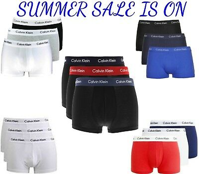 Calvin Klein Boxer Men's Brand New CK 3 in 1 PACK Boxer Trunks Huge Color Combo