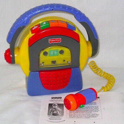 WORKS Vintage 1999 Fisher Price Tuff Stuff Cassette Tape Player/Recorder w/Mic
