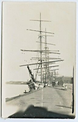 C1910 Rp Npu Postcard Three Masted Barque Port Pirie Wharf South Australia F54