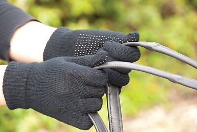 Harlequin Adult Size Magic Gloves With Pimple Grip Palm For Horse Riding