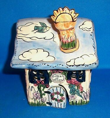 Blue Sky Clay Works Heather Goldminc Little Bit of Heaven Tea Light House