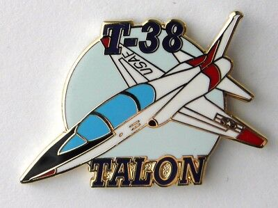 Talon T-38 Usaf Us Air Force Jet Aircraft Thunderbird Lapel Hat Pin 1.5 Inches