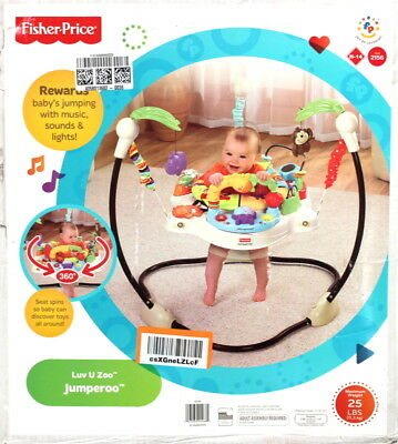9c05b3d322a2 FISHER PRICE LUV U Zoo Jumperoo Baby Jumper Walker Bouncer Activity ...