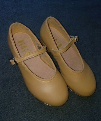 BLOCH girls 9.5 tan tap shoes GUC toddler dance