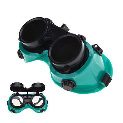 Welding Cutting Safety Goggles Protection Glasses Flip Up Dark Green Lenses