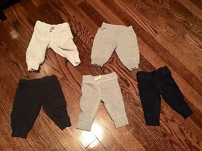 FIVE Pairs Lot Baby Boy Carter's Newborn Pants Bottoms NB Just One You