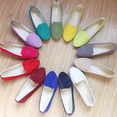 18 Colors Women Flats Womens Casual Shoes Loafers Plus Size Ballet Low Heel