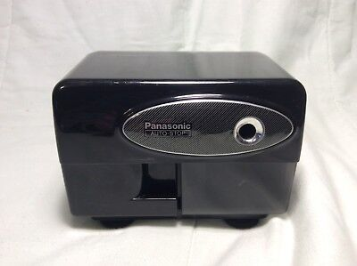Circa. 1980s Panasonic Auto-Stop Electric Pencil Sharpener KP-310 Black Works