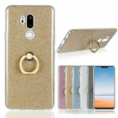 Transparent Crystal fitted Phone case Cover wtih Finger ring  for  LG G7 ThinQ