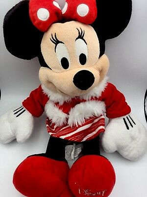 """17"""" 2010 Disney Store Minnie Mouse Red Santa Christmas Plush Toy Doll Girls Gift"""