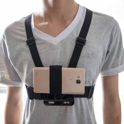 Chest Body Strap Harness Mount Holder for Mobile Phones Without Strap