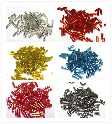 1500pcs 2x7mm Jewelry Making DIY Loose Czech Glass Tube Spacer Seed Beads