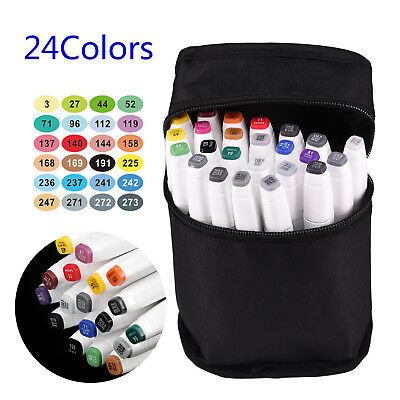24-36-72Colors Dual Headed Artist Sketch  New Markers Pen Set For Animation