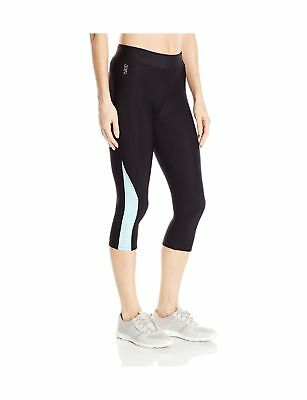 SKINS Women's A200 Thermal Compression 3/4 Capri Tights Black/Glacier Medium