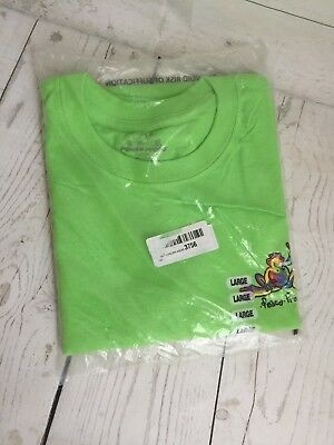 Peace Frogs Frog Retro Adult Lime Large T-Shirt - NWT
