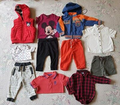 Baby Boys Mixed Bundle Mickey Mouse Outfit Age 9-12 Months Boden Tu