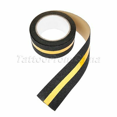 Outdoor Floor Non Slip Stair Treads Yellow Reflective Safety Anti Skid Tape 5M