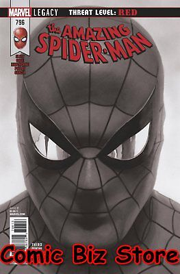 Amazing Spider-Man #796 (2018) 3Rd Print Alex Ross B&w Variant Cover Red Goblin