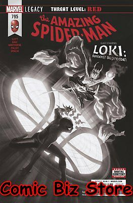 Amazing Spider-Man #795 (2018) 3Rd Print Alex Ross B&w Variant Cover Red Goblin