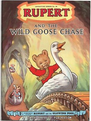 RUPERT Adventure Series No 20 Wild Goose Chase April 1954 V FINE Ex-Shop Stock