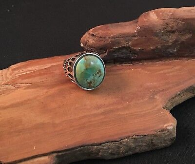 287f0341358bd BARSE NATURAL TURQUOISE Ring 925 Silver Very Substantial! Size 7