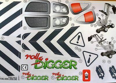 Rolly Toys Aufkleber Sticker Set rolly Digger