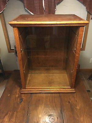 Antique Dr. D.j. Myers Remedy Co. Medicine/pharmaceutical Display Case Tiger Oak