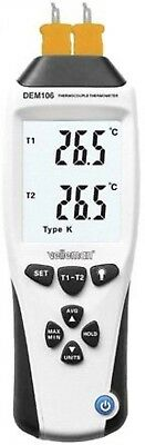 Velleman DEM106 K/J Type Thermocouple Thermometer, Multi-Colour