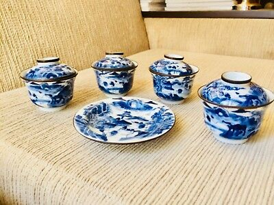 0ld Chinese teaset Porcelain painted. Low reserve
