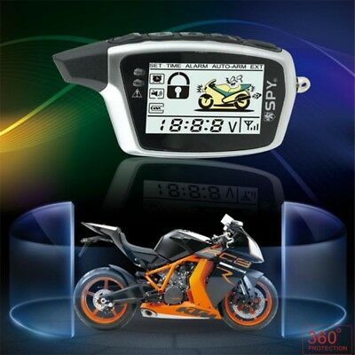 SPY 5000m 2-way motorcycle security alarm system with 2 LCD transmitters