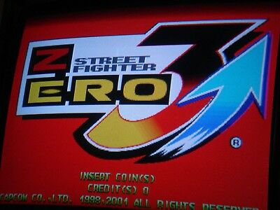 2001 Capcom Street Fighter Zero 3 Upper Header Arcade Gaming
