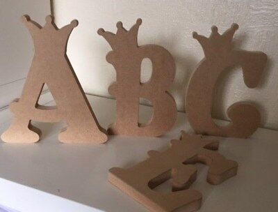 Free Standing MDF Crown Letters 22cm tall - 18mm thick