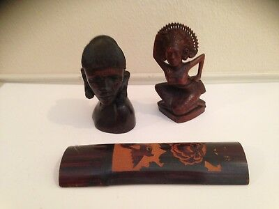 Three Small Antique Wood Carvings